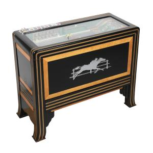 The top lot of the auction was this Pace's Races 5-cent horse race slot machine made in the United States in 1934, professionally restored mechanically and cosmetically (CA$29,212).