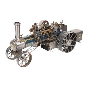 Sawyer-Massey 1-inch scale plowing engine working model, made in the 1950s out of steel and brass by W.E. Deering of Surrey, British Columbia, still in its original custom case (CA$9,348).