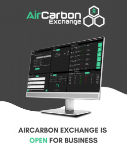AirCarbon Exchange Trade Screen
