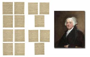 16-page letter signed by John Adams eight years after his presidency ended, possibly the longest letter by Adams in private hands, discussing the current state of politics (est. $70,000-$80,000).