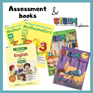 CPD's assessment books and STEAM Explorers for Pre-schoolers