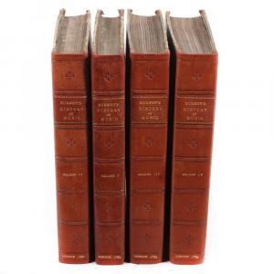 Four Volumes: General History of Music from the Earliest Ages to the Present Period by Charles Burney, Printed for the Author, with three first editions, 1732 & 1739 (est. $1,500-$2,500).