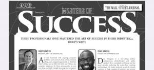 Dan Mangena -- Master of Success in the Wall Street Journal