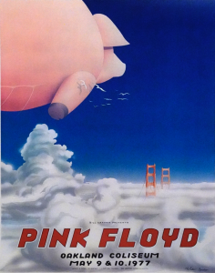 Original first-print uncut printer's proof of Pink Floyd Art of Rock AOR-4.47 concert poster, Oakland (Calif.) Coliseum, May 9-10, 1977. Artist: Randy Tuten. Est. $1,000-$1,500