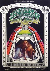 Janis Joplin and Her Band Bill Graham concert poster, 1969, original first printing. Artist: Randy Tuten (signed), D. Bread and Jim Marshall. Est. $1,500-$2,000