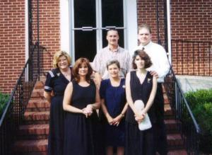 Dawn Ireland and Rhonda Montague at a memorial service for Shane Torrence in 1999