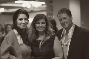 Dawn Ireland and Rhonda and Joe Montague at a charity event for CDH International in 2017
