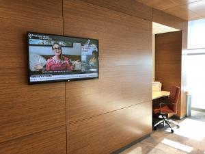 Covid-Free TV in a Hospital Setting