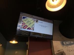 Covid-Free TV in a Restaurant Setting