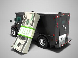 armored car and cash