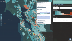 CITYDASH.ai Mobility Insights Dashboard for the Greater San Francisco Bay Area, powered by CITYDATA.ai