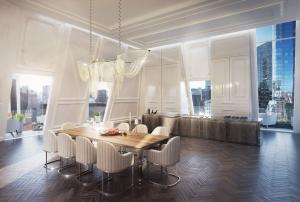 The award-winning design calls for 9,650 square feet of interior and exterior space with walls of glass, skylights, and oversized windows to bring the outside in and filter in an abundance of natural light.