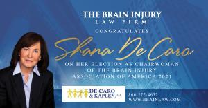 Shana De Caro elected Chairwoman of the Brain Injury Association of America