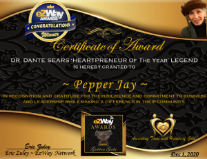 Music Producer Pepper Jay Named Heartpreneur of the Year