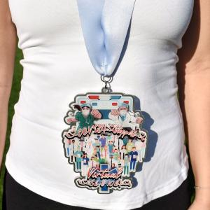 Virtual Run 5K and 10K finisher medal charity