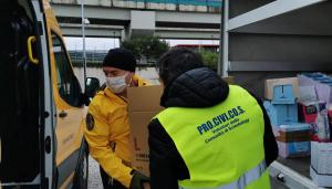 Scientology Volunteer Ministers of Turin collect supplies to deliver to families affected by the 29 December earthquake in Sisak, Croatia.