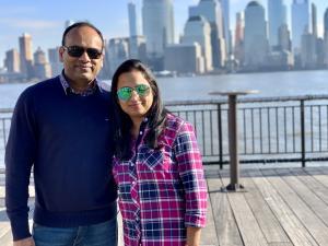 canUpls! Co-Founders Sanil Parambil and Radhika Sanil