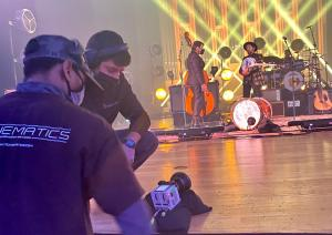 7 Cinematics crew filming New Year's Eve event with The Avett Brothers