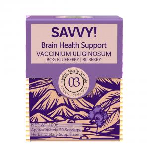 SAVVY Brain Health Support (Bilberry extract, also called Vaccinium uliginosum) sold by Linden Botanicals