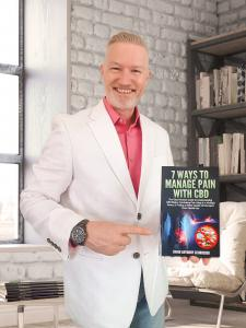 David Anthony Schroeder with his new book release, 7 Ways to Manage Pain With CBD