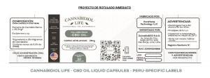 Sneak Peak at the Final Label Requirements for Cannabidiol Life's CBD Capsules in Peru.