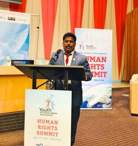 Datchanamoorthy Ramu at united Nations HQ, New York