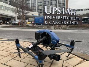 COVID-19 Test Kit Deliveries by Drone at SUNY Upstate University Hospital in Syracuse