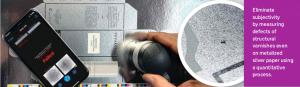 Nano measuring varnish on product packaging