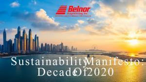 Belnor Engineering Sustainability Manifesto: Decade Of 2020