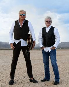 Air Supply's Graham Russell and Russell Hitchcock PR photo in desert