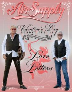 """Graham Russel and Russell Hitchcock in """"Love Letters"""" Valentines Online Concert Poster"""