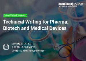 Technical Writing for Pharma, Biotech and Medical Devices