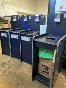 ReWorked PPE bins, made from 100% recycled plastic waste