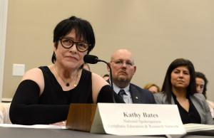 Kathy Bates sits for Congressional testimony