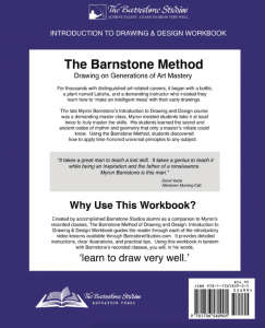 Introduction to Barnstone Studios Drawing & Design Workbook, back cover