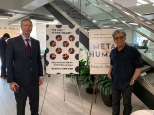 """Dr. Deepak Chopra, author of """"MetaHuman"""" and Professor Don Hoffman, author of """"The Case Against Reality: Why Evolution Hid the Truth from Our Eyes"""""""