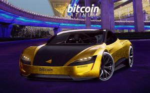 Bitcoin Latinum's special edition 2021 Tesla Roadster