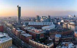 Manchester city panoramic view