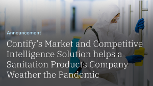How a Competitive Intelligence solution provider helped a sanitation products company to manage market uncertainties amidst Covid-19