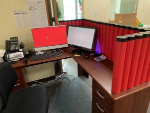 Tubular Blocks to Build Fun Office Walls, Partitions or Desktop Dividers