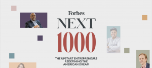 Forbes Next 1000 Featuring Donald Thompson