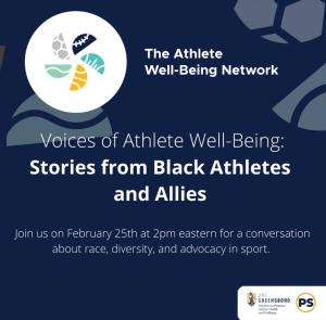 A conversation with Black athletes and allies to discuss their sport experiences and explore directions for support and advocacy