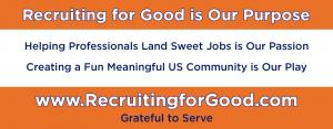 Retain Recruiting for Good to Help Us Fund Meaningful Fun in The Community #purposebeforeprofit #kickassforgood #recruitingforgood www.RecruitingforGood.com