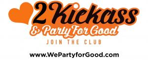 2021 Love Kickass and Party for Good Logo The Ultimate Foodie Celebration Reward #kickassforgood #wepartyforgood #foodiecelebration www.WePartyforGood.com