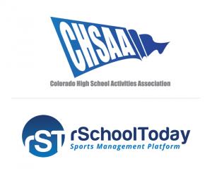 rSchoolToday and CHSAA logos