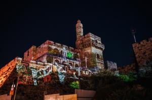 Jerusalem follow the light - Tower of David - photo by Shmuel Cohen