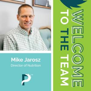 Welcome banner and picture of Dr. Mike Jarosz
