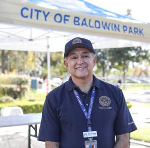 The City of Baldwin Park Program Supervisor- Mike Salas at No Cost COVID-19 Antibody Test Event December 2020