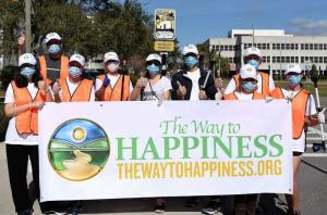 Volunteers take part in The Way to Happiness Foundation of Tampa Bay monthly community cleanups