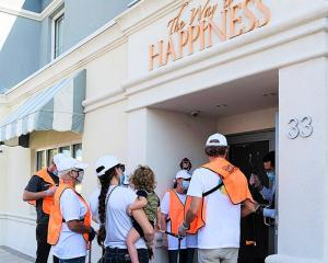 Each month, volunteers gather at The Way to Happiness building in downtown Clearwater, Florida, they collect their supplies and head off for the cleanup.